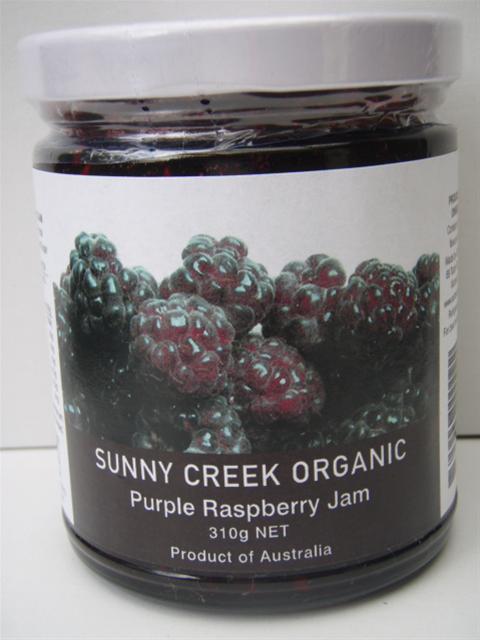 Sunny Creek Organic Purple Raspberry Jam 310g