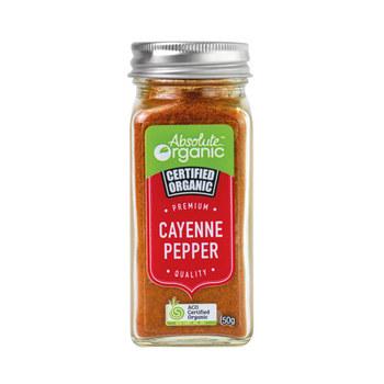 Absolute Organic Herbs Dried Cayenne Pepper 50g