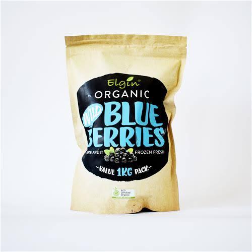Elgin Frozen  Organic Wild Blueberries 1kg
