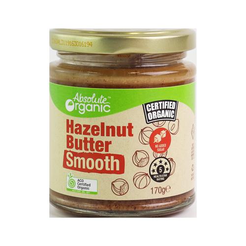 Absolute Organic Butter Hazelnut Smooth 170g
