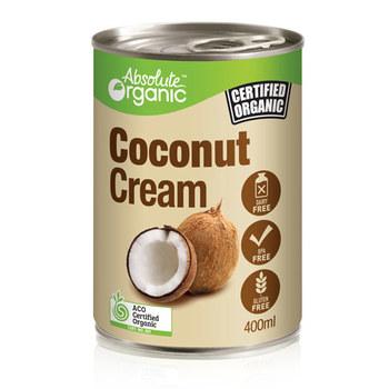 Absolute Organic Coconut Cream 400ml