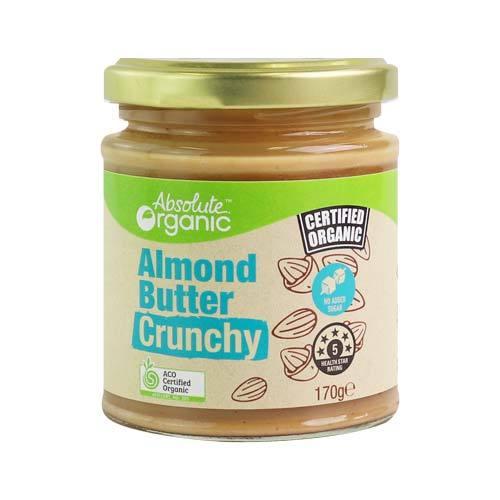 Absolute Organic Butter Almond Crunchy 170g