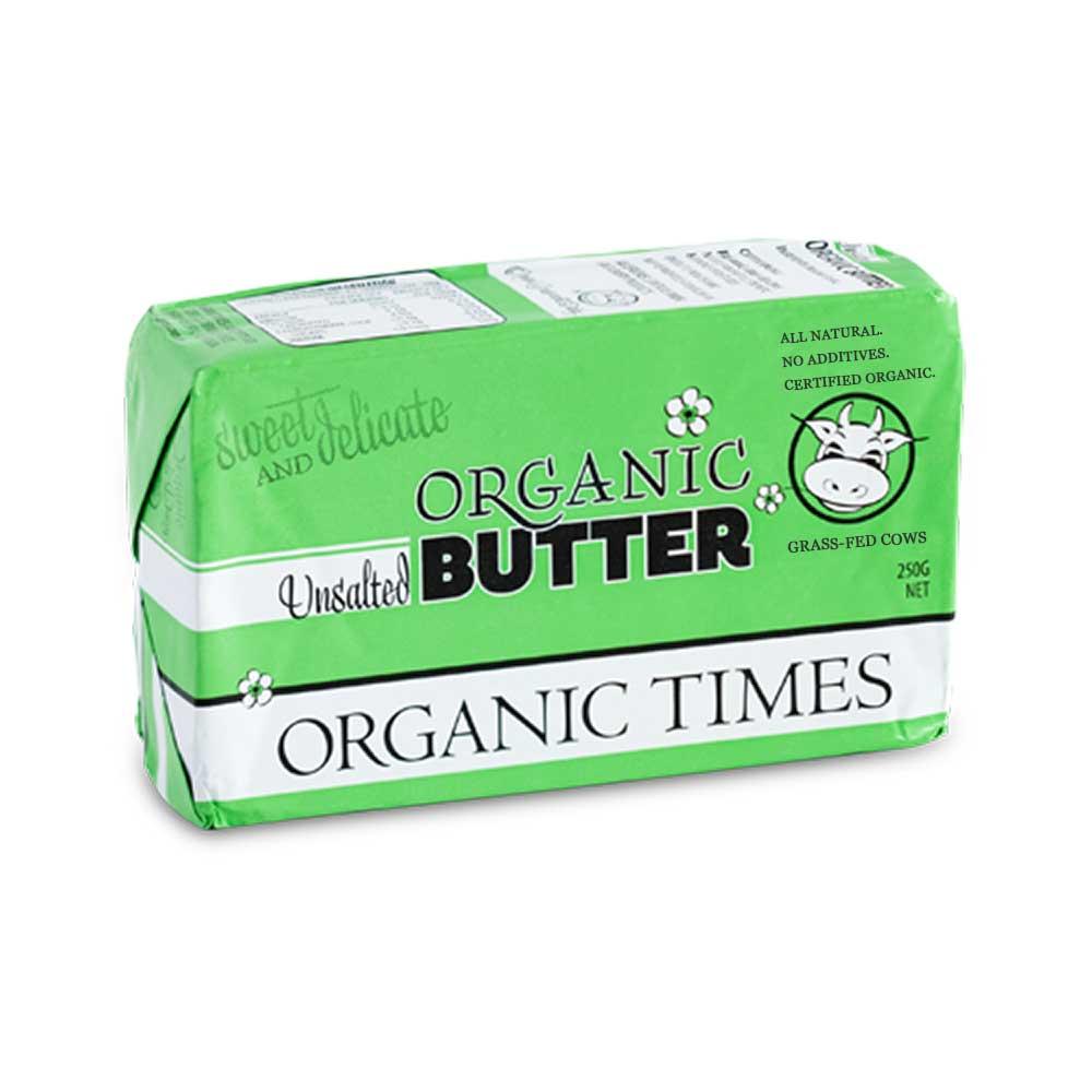 Organic Times Butter Unsalted 250g