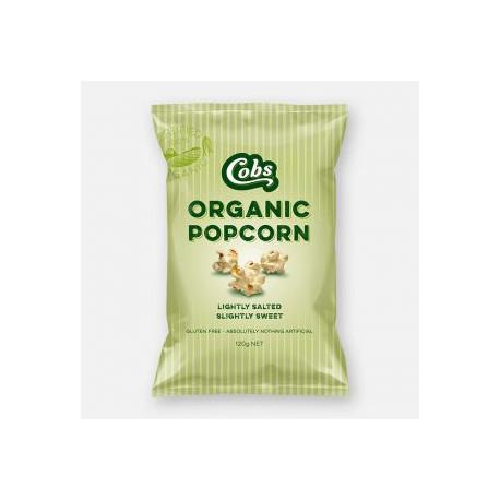 Cobs Organic Popcorn Lightly Salted Slightly Sweet 120g