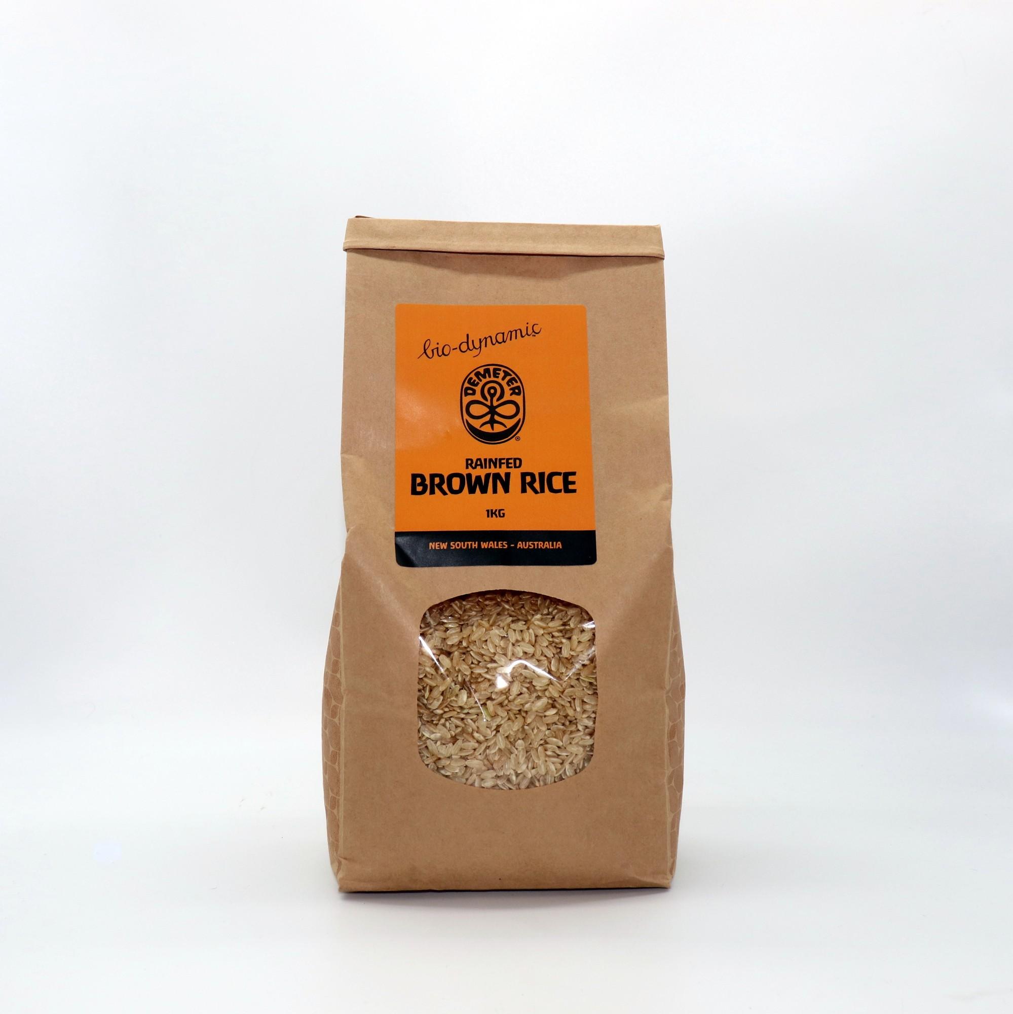 Biodynamic Demeter Rice Brown Rain Fed 1kg