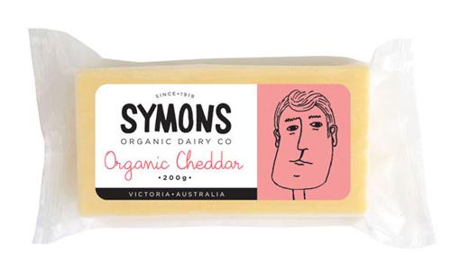 Symons Organic Cheese Cheddar 200g
