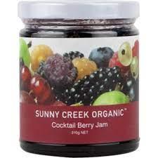 Sunny Creek Organic Cocktail Berry Jam 310g